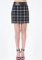 Bebe Plaid Miniskirt