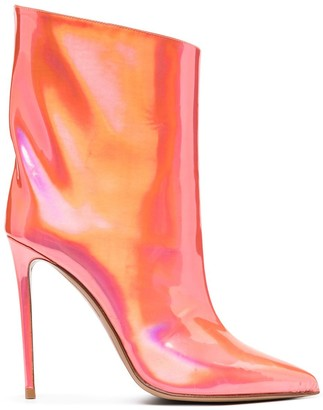 Alexandre Vauthier Holographic Pointed Boots