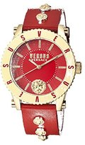 Versus By Versace Women's Madison Quartz Stainless Steel and Leather Casual Watch, Color:Red (Model: S31080016)