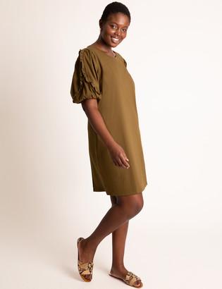 ELOQUII Puff Sleeve Easy Dress