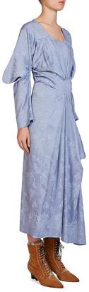 Loewe Jacquard Wool-Blend Maxi Dress