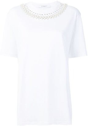 Givenchy embellished-collar T-shirt