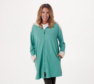 Cuddl Duds Comfortwear Hooded Zip-Up Robe