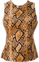 Fausto Puglisi snakeskin print tank top - women - Silk/Acetate/Viscose - 42