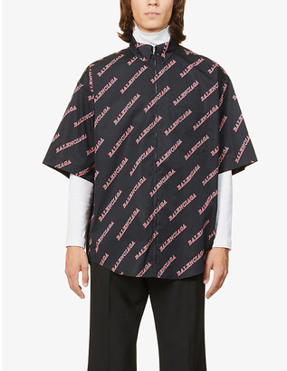 Balenciaga Logo-print cotton shirt