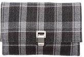 Proenza Schouler Plaid Lunch Bag Clutch