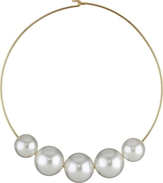 Kenneth Jay Lane Women's 8041NGWP Gold/White Pearl One Size