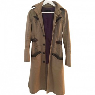 DSQUARED2 Beige Cotton Trench Coat for Women