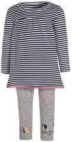 Carter's STRIPE SMILE FACE SET Trousers mottled grey