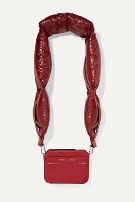 MONCLER GENIUS 2 Moncler 1952 Valextra Dado Shell Down And Leather Shoulder Bag - Burgundy