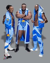 WWE New Day (Xavier Woods, Big E, Kofi Kingston 8x10 Photo (2015 posed)