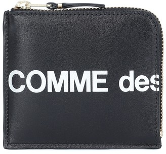 Comme des Garcons Huge Logo Small leather wallet