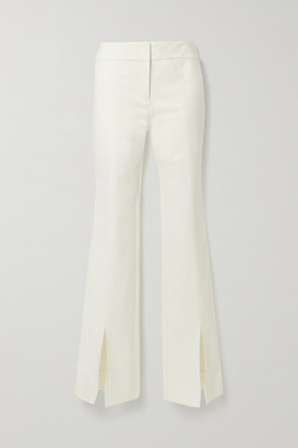 Derek Lam 10 Crosby Maeve Cotton-blend Crepe Flared Pants - Cream