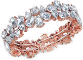 Charter Club Rose Gold-Tone Crystal Stretch Bracelet, Only at Macy's