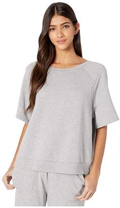Eberjey Blair Meadow Sweatshirt (Heather Grey) Women's Pajama