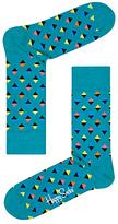 Happy Socks Mini Diamond Socks, One Size, Teal