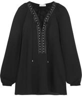 Altuzarra Yuba Embellished Crepe De Chine Blouse - Black