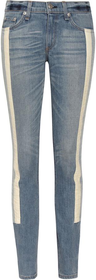 Rag and Bone Rag & bone The Racer paneled mid-rise skinny jeans