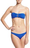 Proenza Schouler Solid Bandeau Two-Piece Swimsuit, Lapis