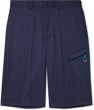 Givenchy Wide-Leg Super 110s Virgin Wool Shorts