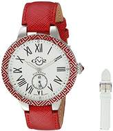GV2 by Gevril Women's 9120 Astor Enamel Analog Display Quartz Red Watch