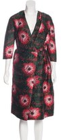 Michael Van Der Ham Floral Jacquard Wrap Dress