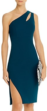 Aqua One-Shoulder Crepe Dress - 100% Exclusive