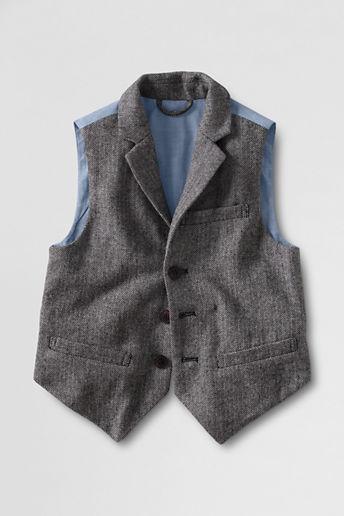 Lands' End Little Boys' Herringbone Vest