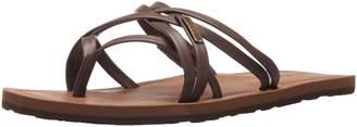 Volcom Women's Happy Multi Strap Fashion Flat Sandal