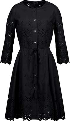 Theory Flared Broderie Anglaise Cotton Dress