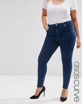 Asos Ridley Skinny Jean In Poplar Indigo Wash