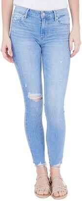 Paige Verdugo Ripped Ankle Skinny Jeans