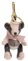 Burberry Women's 'Thomas' Check Bear Cashmere Bag Charm - Pink