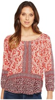 Lucky Brand Placed Peasant Top Women's Clothing