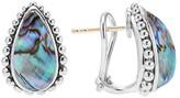 Lagos Sterling Silver Maya Abalone Doublet Half Hoop Earrings