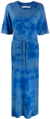 Raquel Allegra Belted Tie-Dye Print Dress
