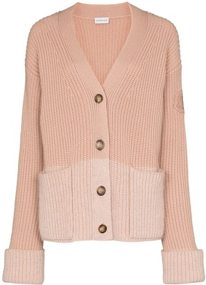 Moncler Colourblock Ribbed-Knit Cardigan