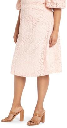 ELOQUII Lace Circle Skirt