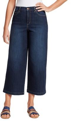 Gloria Vanderbilt Women's Amanda Wide-Leg Crop Jeans