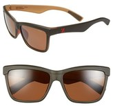 Zeal Optics Women's 'Kennedy' 56Mm Polarized Plant Based Retro Sunglasses - Kennedy Black Coffee