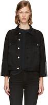 Frame Black Denim le Jacket Reverse Overlock Cuff Jacket