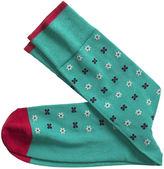 Johnston & Murphy Floral Stripe Socks