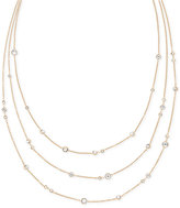Michael Kors Crystal Bezel Layer Necklace