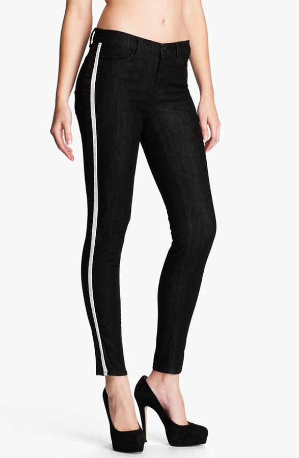 J Brand 'Rowan' Stripe Skinny Jeans (Tux)