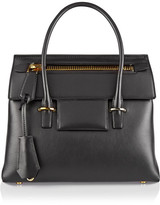 Tom Ford Icon Medium Leather Tote - Black