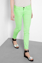 CURRENT/ELLIOTT Washed Neon Green Stiletto Skinny
