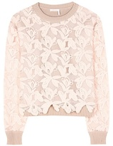 See by Chloe Cotton lace sweater