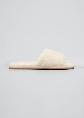 Veronica Beard Gillian Shearling Slide Slippers