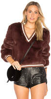 Somedays Lovin Heavy Hearts Fur Sweater in Brown. - size L (also in M,S,XS)