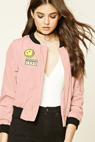 Forever 21 FOREVER 21+ Runway Patch Bomber Jacket